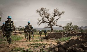 UN peacekeepers in the Mopti region of central Mali during a military operation.