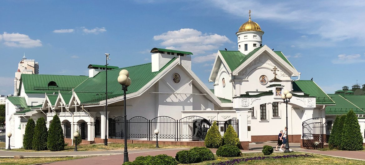The Holy Spirit Cathedral in Minsk, Belarus.