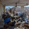 Hospital para mulheres e crianças em Idlib, na Síria, seriamente danificado por ataques aéreos.