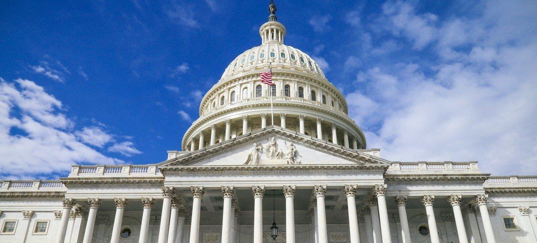Здание Капитолия в Вашингтоне, США.