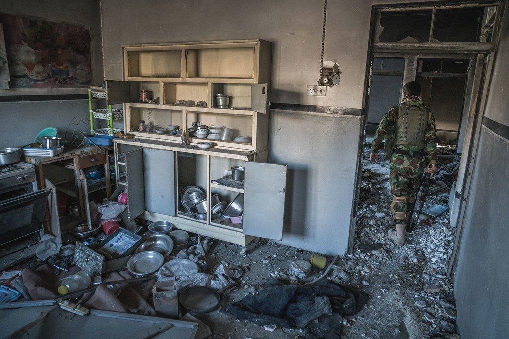 La ville de Sinjar, au Kurdistan iraquien, a été saccagé par des combattants de l'EIIL lorsque le groupe terroriste a contrôlé la ville.