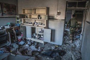 La ville de Sinjar, au Kurdistan iraquien, a été saccagée par des combattants de l'EIIL lorsque le groupe terroriste a contrôlé la ville.