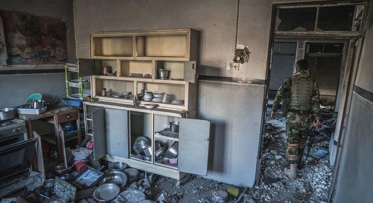من الأرشيف: تعرض مدينة سنجار في كردستان العراق للنهب من قبل مقاتلي داعش عندما سيطرت عليها المجموعة الإرهابية.