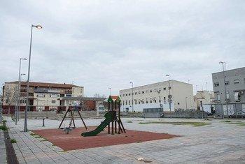 Un ensemble résidentiel dans la ville de Merida, dans la région de l'Estrémadure, en Espagne