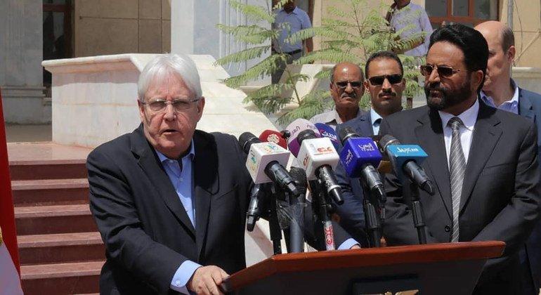 联合国特使格里菲思在利雅得会见也门总统哈迪