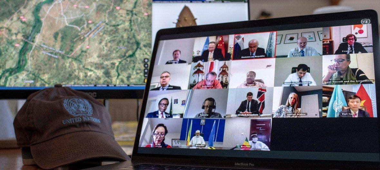 माली की स्थिति पर चर्चा के लिए सुरक्षा परिषद की ऑनलाइन मीटिंग (7 अप्रैल 2020)