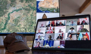 The UN Security Council meets remotely to discuss  Mali.