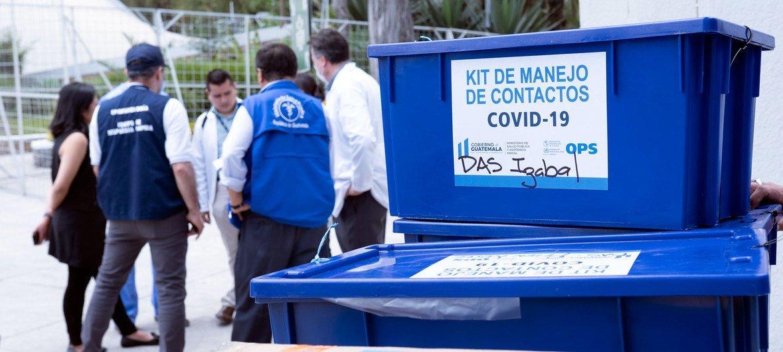 La Organización Panamericana de la Salud/OMS ayuda a Guatemala en la respuesta del coronavirus.