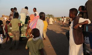 Refugees fleeing violence in Tigray, Ethiopia.