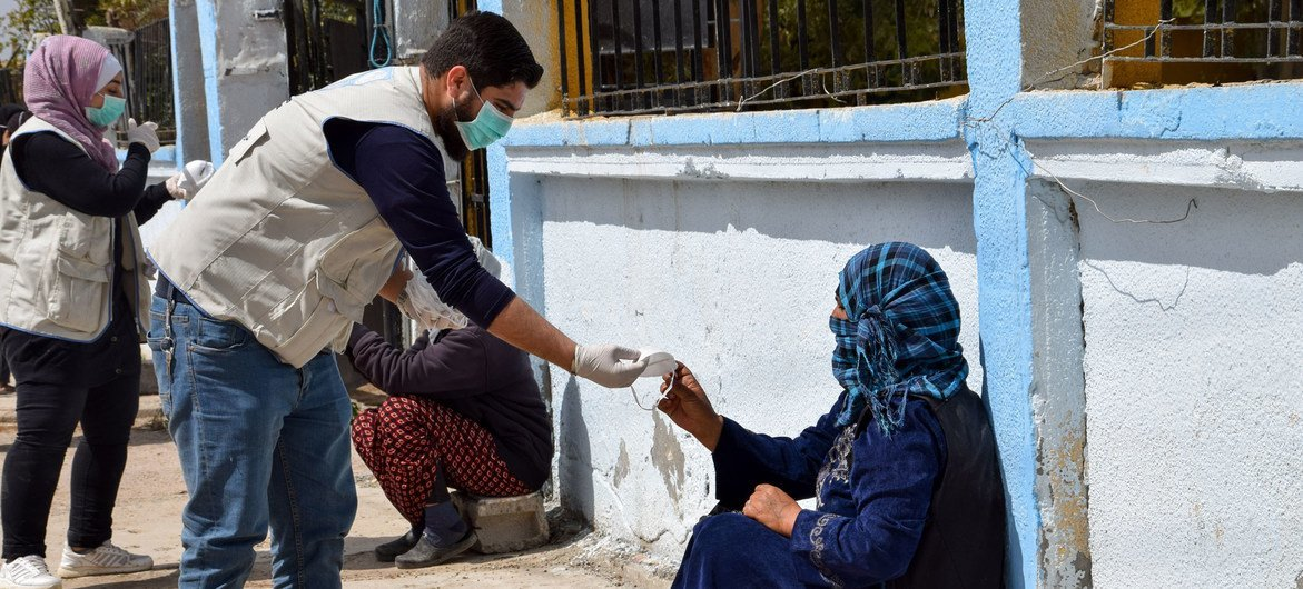 The UN is supporting vulnerable communities in Syria during the coronavirus pandemic.