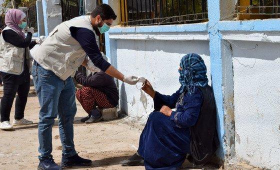 A ONU está apoiando comunidades vulneráveis na Síria durante a pandemia de coronavírus.