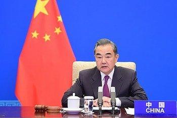 中国国务委员兼外长王毅主持