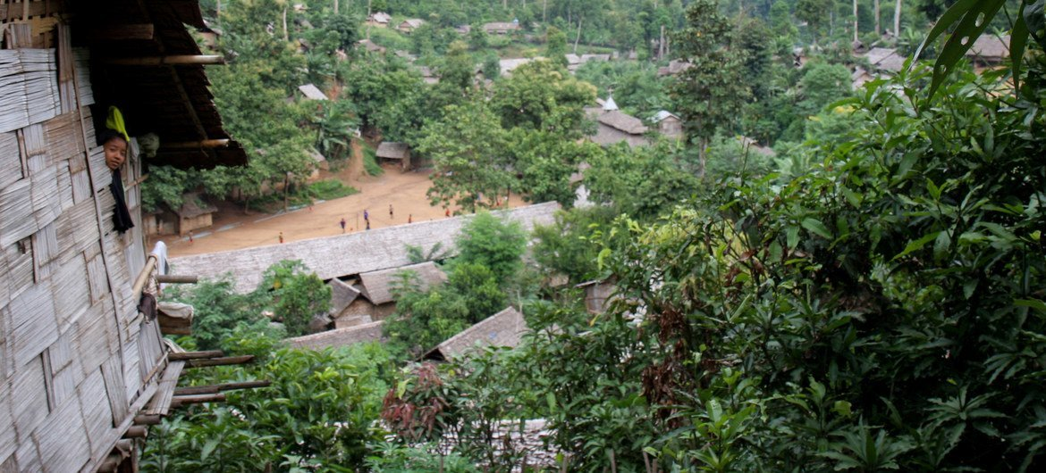 As of 31 December 2020, there are about 92,000 Myanmar refugees in Thailand. Pictured here, a refugee camp in northern Thailand. (file photo)