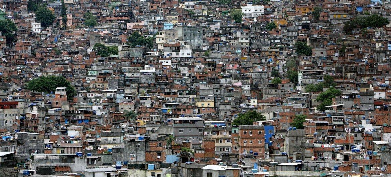 Favela en Rio de Janeiro, Brasil