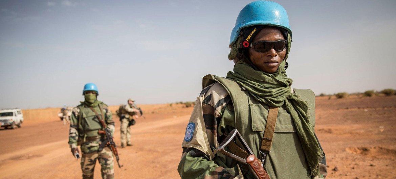 UN peacekeepers patrol the Mopti region of eastern Mali.