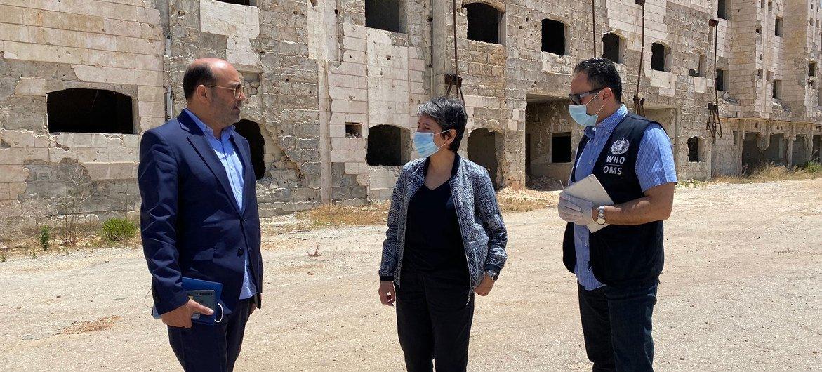 Um hospital de 400 leitos em ruínas por causa do conflito na Síria.