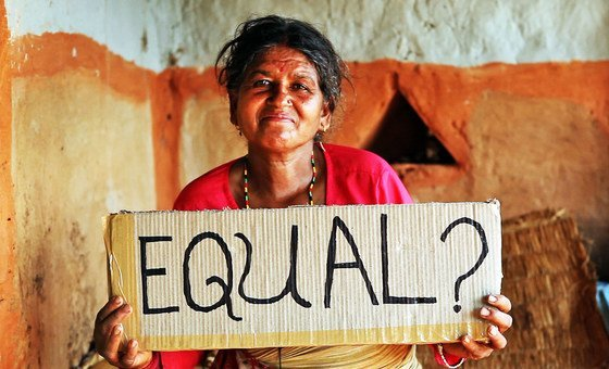 A woman in Nepal questions the equality of women.