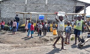 Displaced children in North Kivu, Democratic Republic of the Congo.