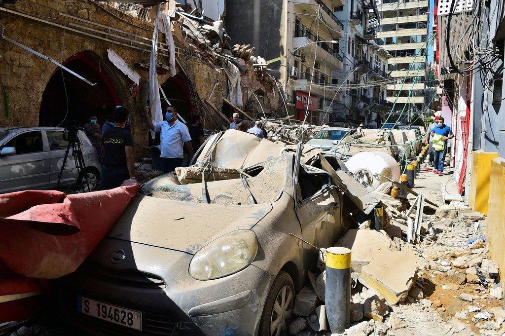 黎巴嫩贝鲁特港的特带爆炸对这个首都城市造成了严重破坏。