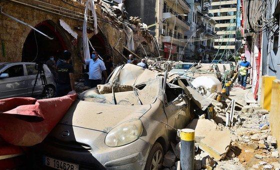 Взрыв в Бейруте разрушил тысячи построек