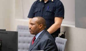Bosco Ntaganda during the handing down of his sentence in Courtroom 1 of the International Criminal Court, on 7 November 2019.