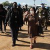 Special Representative of the United Nations Secretary General in the Democratic Republic of the Congo, Leila Zerrougui visits Beni in North Kivu Province in November 2020.