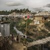 Shelters housing Rohingya refugees at the Unchiprang camp in Cox's Bazar, Bangladesh. (file photo)