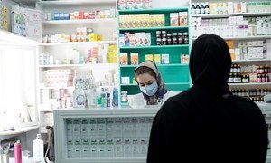 A pharmacy at Fasham Urban Comprehensive Health Centre, Shemiranat District Tehran, Iran.