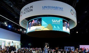 Ms. Maimunah Mohd Sharif, Executive Director of UN-Habitat, speaks at the opening of assemblies on the first day of the 10th Session of the World Urban Forum in Abu Dhabi. 8 February 2020, United Arab Emirates.