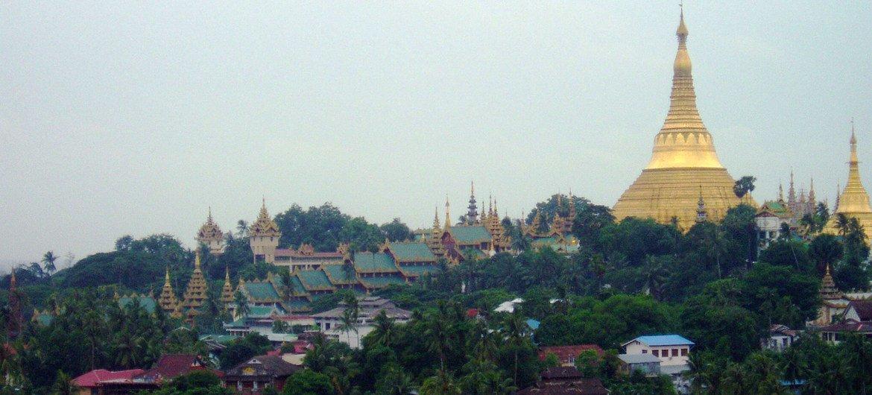 A scene of Yangon, the commercial hub of Myanmar.