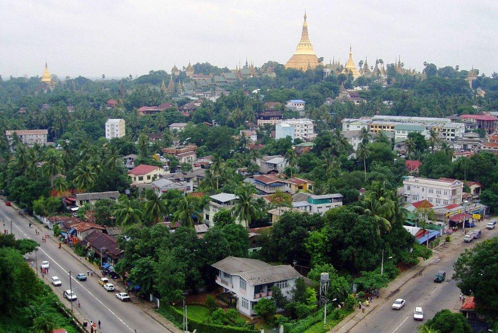Yangon, capitale du Myanmar.