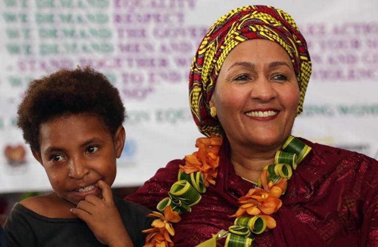 UN Deputy Secretary-General Amina Mohammed at the launch of the Spotlight Initiative in Port Moresby, Papua New Guinea.