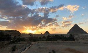 埃及吉萨金字塔。