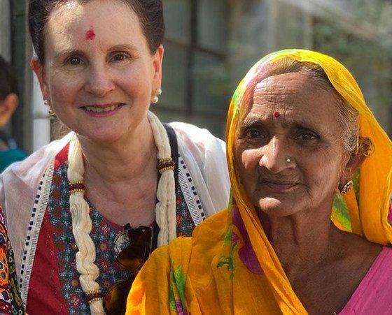 Renata Dessallien (left), the UN Resident Coordinator in India.