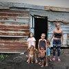 Dioximar Guevara vit avec ses cinq enfants dans un bidonville à Bolivar, au Venezuela.