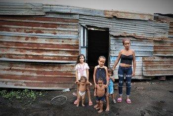 Dioximar Guevara vive con sus cinco hijos en San Félix, un barrio pobre de Puerto Ordaz, la principal ciudad de Bolívar, Venezuela.