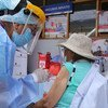 Older adults started to receive COVID-19 vaccines in Lima, Peru at the end of March 2021.