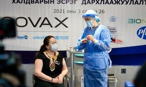 Mongolia initially received over 25,000 doses of the COVID-19 vaccine from the COVAX Facility.