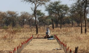 UNMAS has been clearing mines in South Sudan following the conflict there.