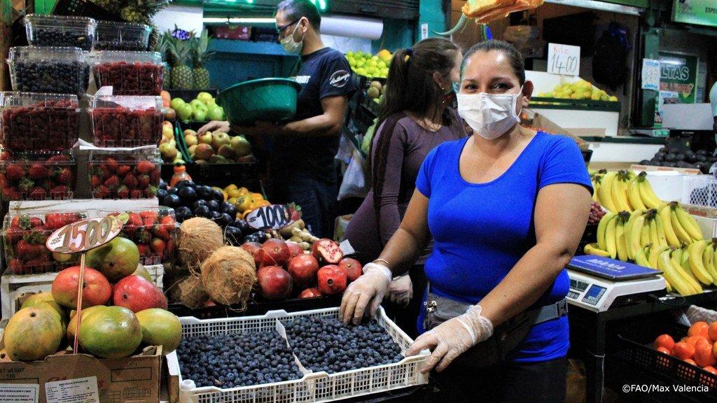 Le marché central de Lo Valledor au Chili durant la pandémie de Covid-19