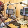 Radio Miraya host, Irene Lasu, works out of the UN peacekeeping mission in South Sudan (UNMISS). (file)