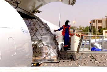 a cargo flight from WFP's newly established Global Humanitarian Response Hub in Liège, Belgium arrived in Burkina Faso carrying almost 16 metric tons of medical cargo and personal protective equipment like masks and gloves on behalf of UNICEF and the International Committee of the Red Cross (ICRC).