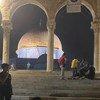 La Mezquita de la Cúpula de la Roca, en Jerusalén Este, un día después de que se produjeran enfrentamientos entre la policía israelí y los palestinos el viernes 7 de mayo de 2021.