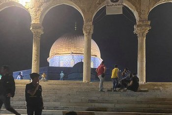 The Dome of the Rock Mosque, East Jerusalem, one day after confrontations took place between Israeli police and Palestinians on Friday 7 May 2021.