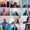 安理会举行在线会议。(资料图片)