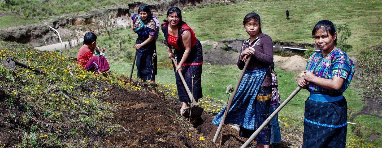Mujeres agricultoras en Guatemala