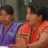 Mujeres indígenas de Costar Rica participantes en la Primera Consulta Nacional con los Pueblos Indígenas, celebrada en San José en mayo de 2017