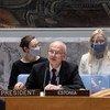 Sven Jürgenson, de l'Estonie, Président du Conseil de sécurité pour le mois de juin.