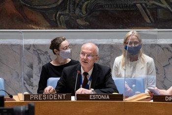 爱沙尼亚常驻联合国代表约根森(Sven Jürgenson)作为安理会本月轮值主席主持了提名联合国秘书长候选人的会议。