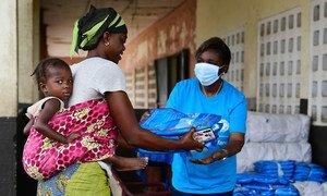 UNICEF ha repartido productos básicos durante la pandemia de COVID-19 en Côte d'Ivoire.